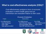what is cost effectiveness analysis cea