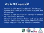 why is cea important