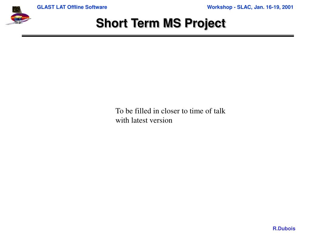 Short Term MS Project