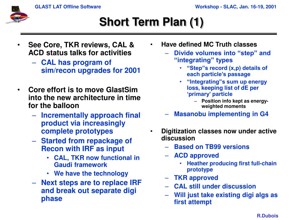 See Core, TKR reviews, CAL & ACD status talks for activities