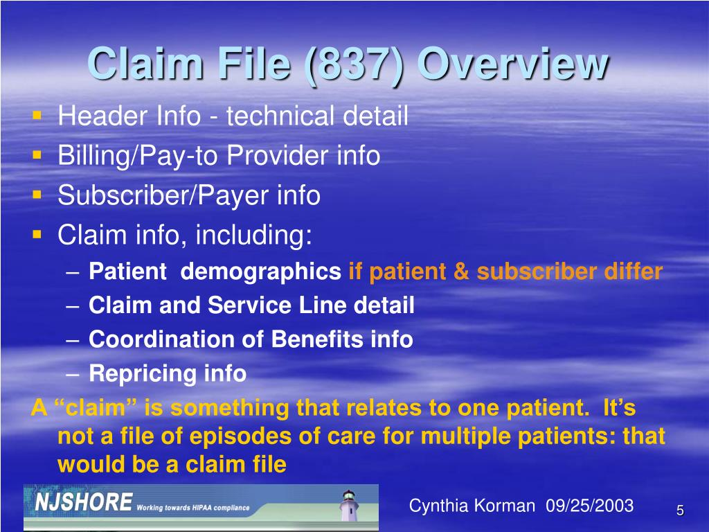 Claim File (837) Overview
