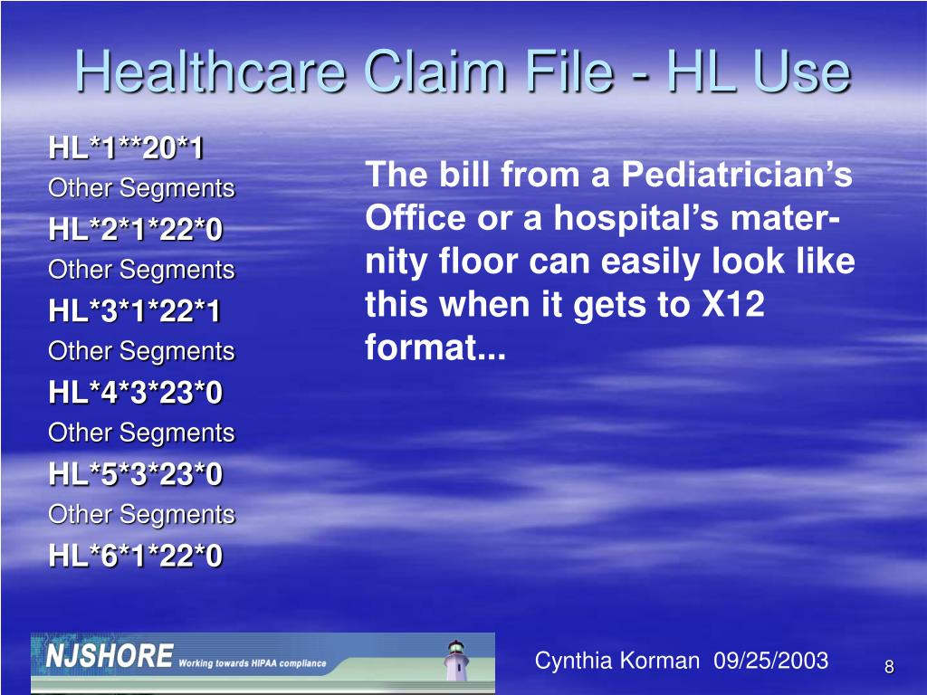 Healthcare Claim File - HL Use
