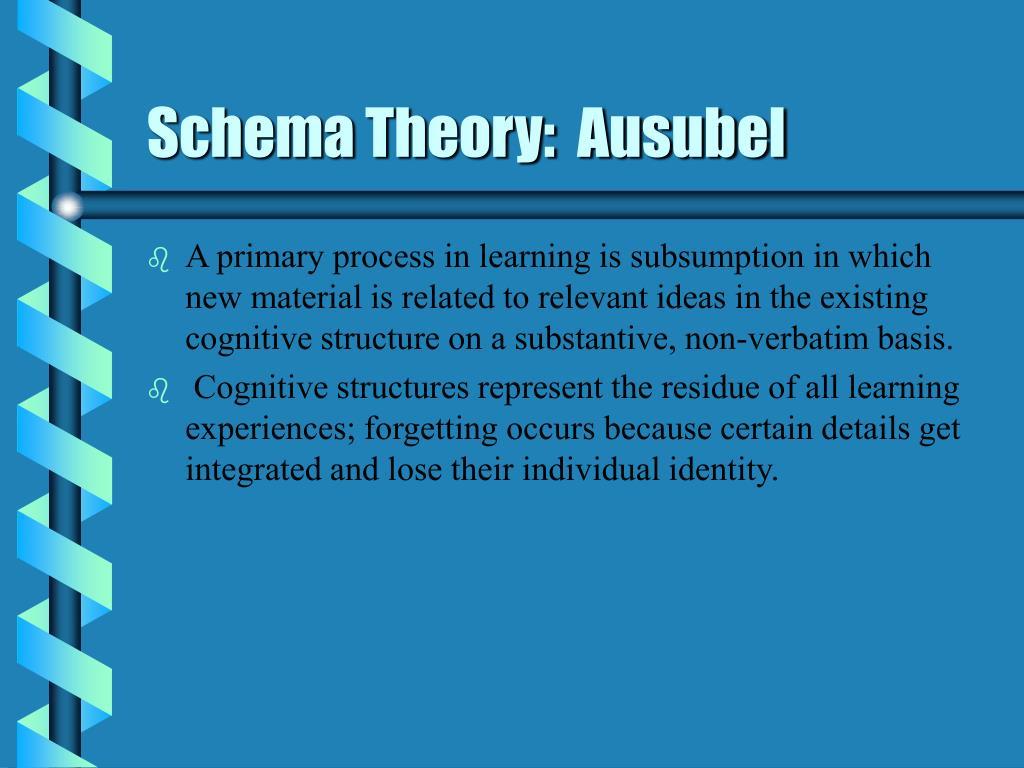 Schema Theory:  Ausubel
