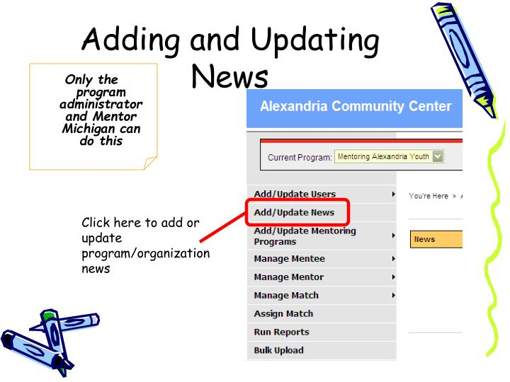 Adding and Updating News