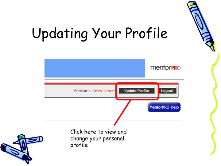 Updating Your Profile
