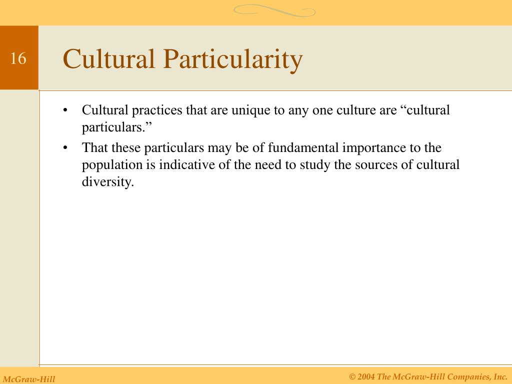 Cultural Particularity