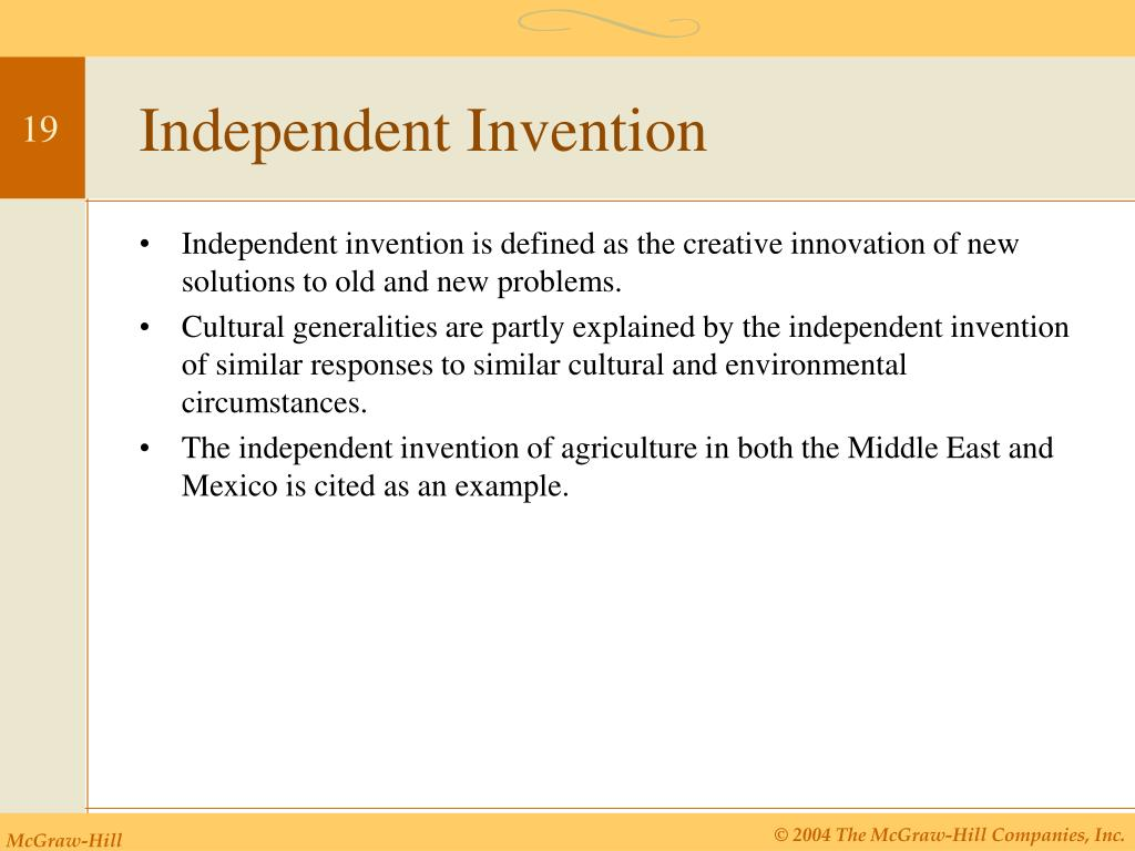 Independent Invention