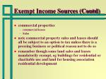 exempt income sources contd29