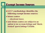 exempt income sources