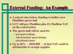 external funding an example