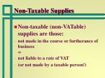 non taxable supplies