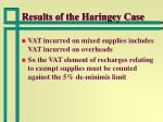 results of the haringey case14