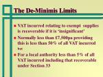 the de minimis limits