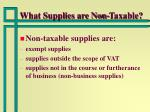 what supplies are non taxable