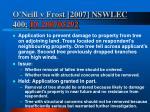 o neill v frost 2007 nswlec 400 bc200705292