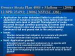 owners strata plan 4085 v mallone 2006 12 bpr 23 691 2006 nswsc 1381