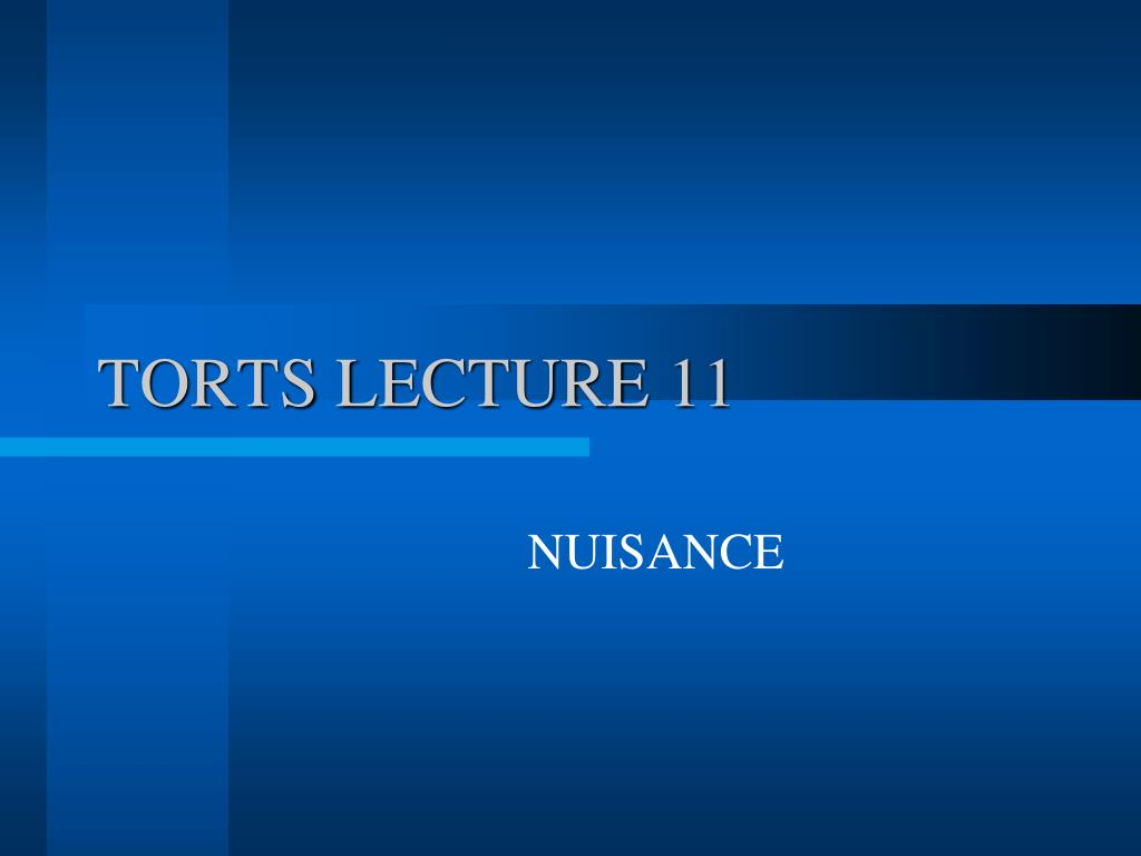 torts lecture 11 l.