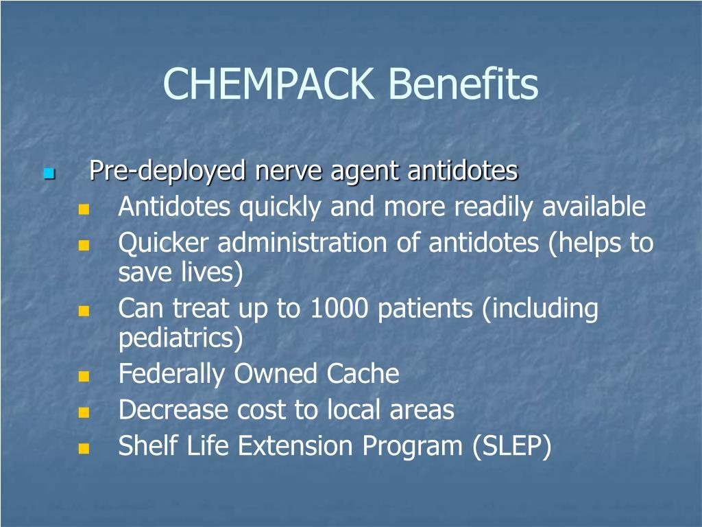CHEMPACK Benefits