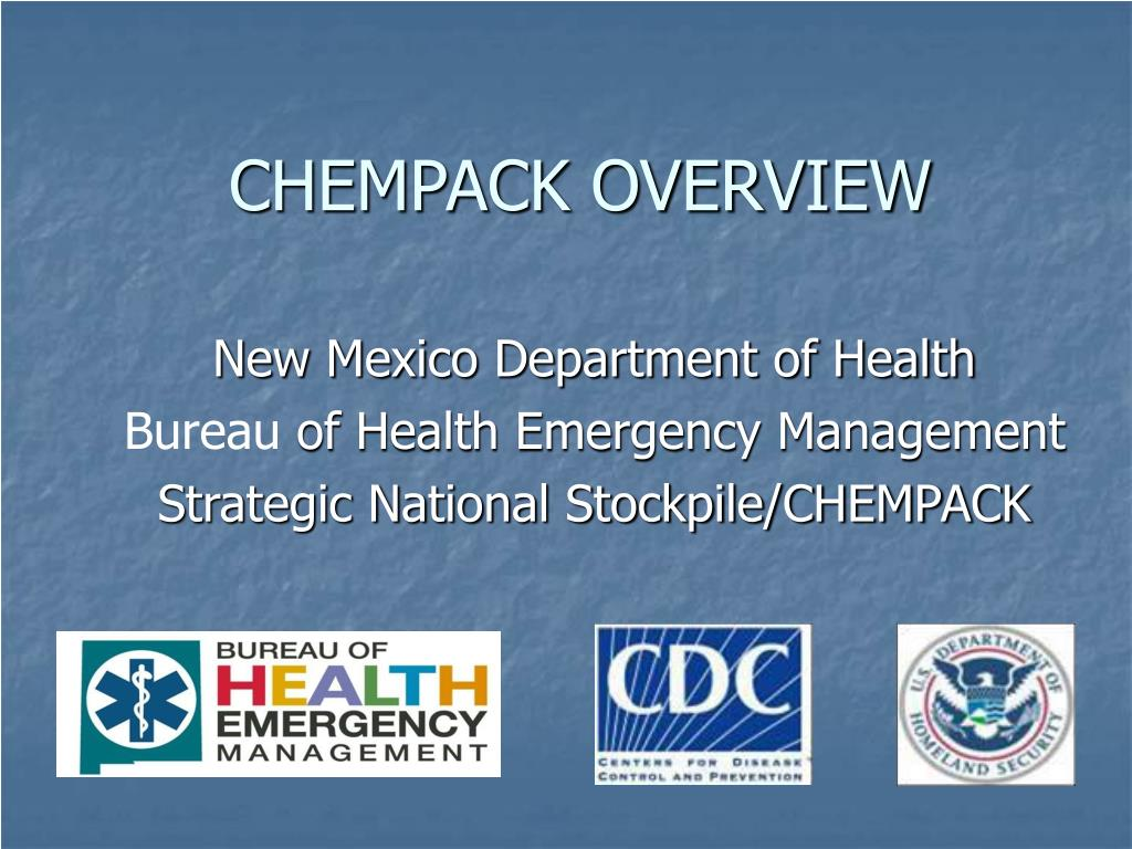 CHEMPACK OVERVIEW