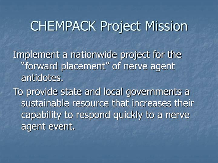 Chempack project mission