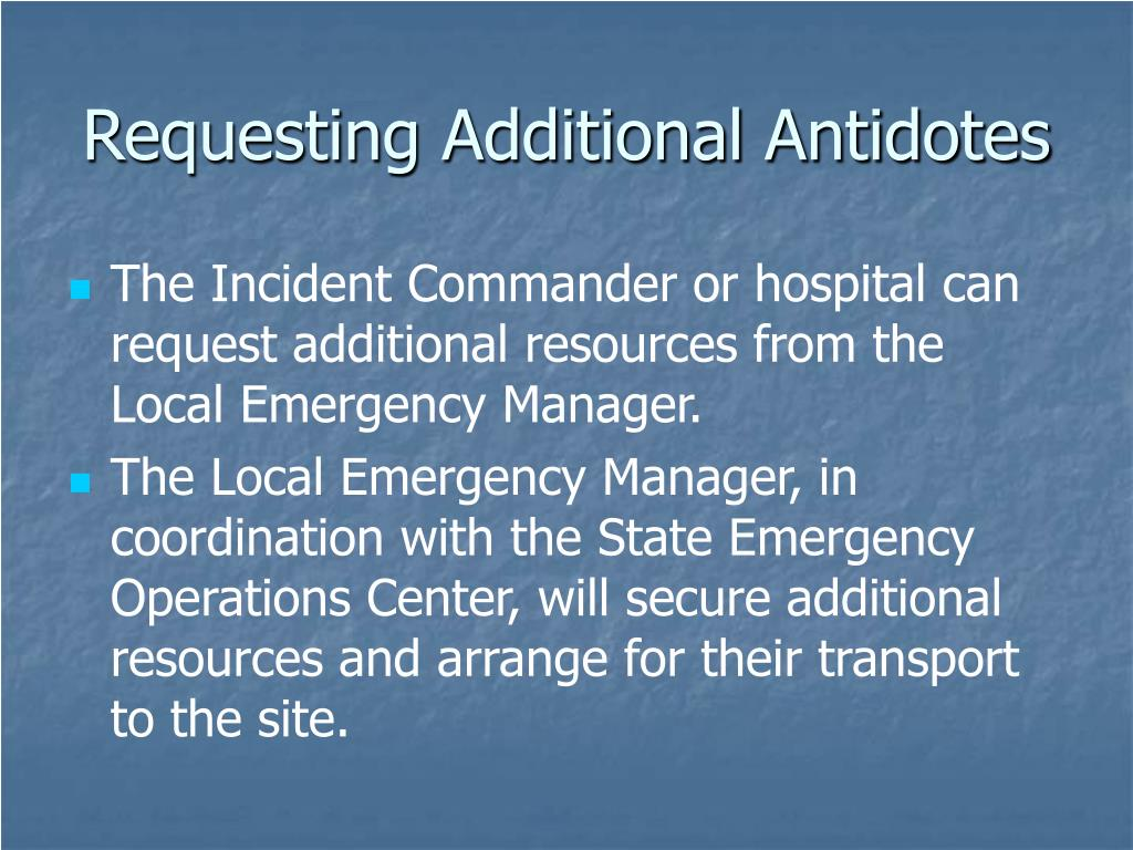 Requesting Additional Antidotes