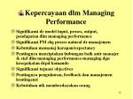 kepercayaan dlm managing performance