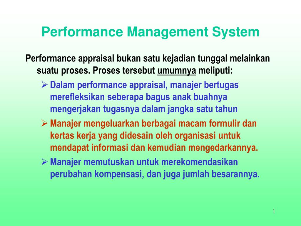 performance management system l.
