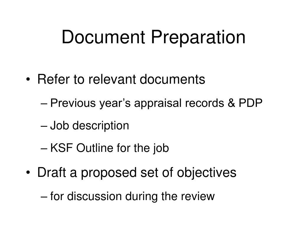 Document Preparation