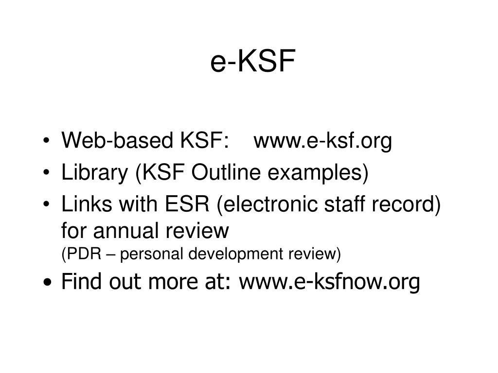 e-KSF