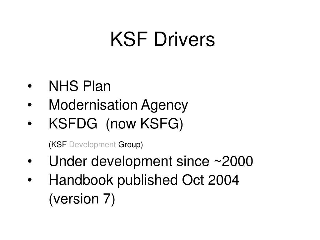 KSF Drivers