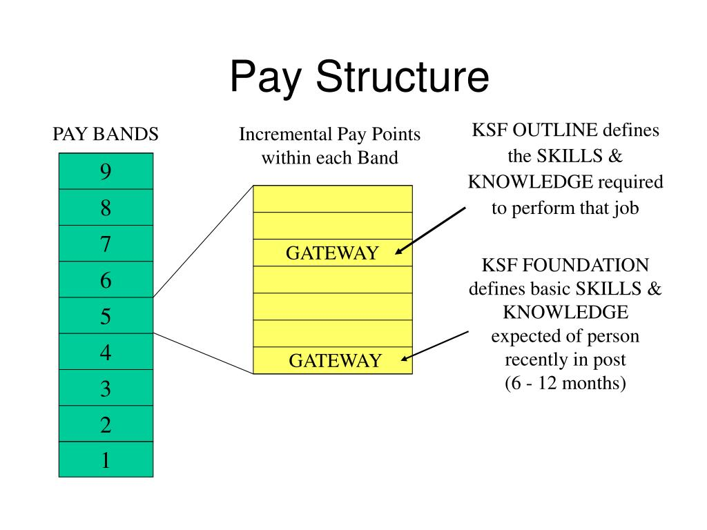 KSF OUTLINE defines the SKILLS & KNOWLEDGE required to perform that job