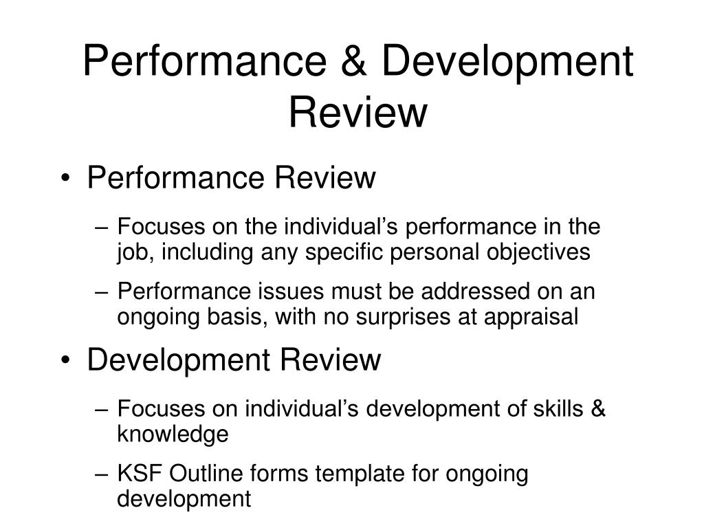 Performance & Development Review