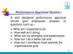 performance appraisal system24