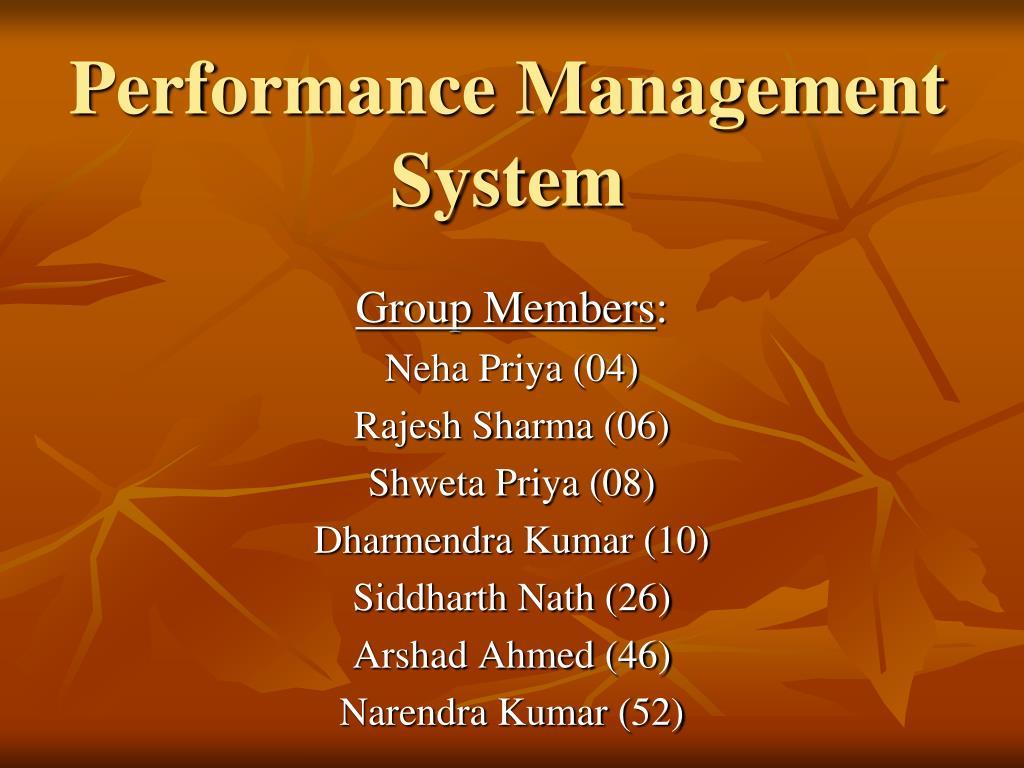 performance management system l.