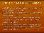 what is a key result area