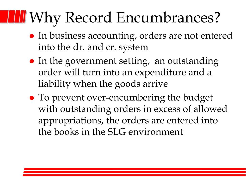Why Record Encumbrances?