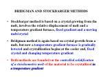 bridgman and stockbarger methods