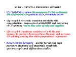 ruby crystal pressure sensor