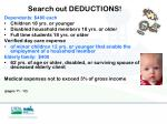 search out deductions