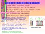 a simple example of simulation