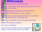 hrsgs program