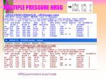 multiple pressure hrsg