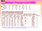 multiple pressure level hrsg