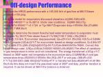 off design performance