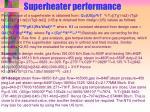 superheater performance