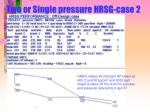 two or single pressure hrsg case 2