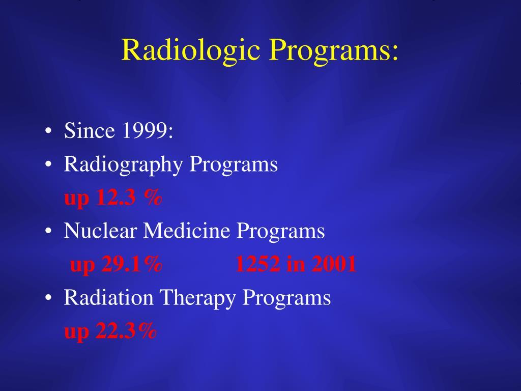 Radiologic Programs: