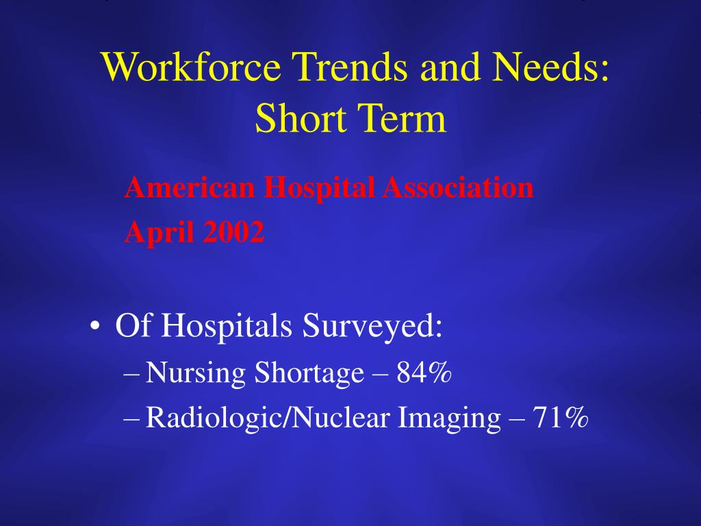 Workforce Trends and Needs:
