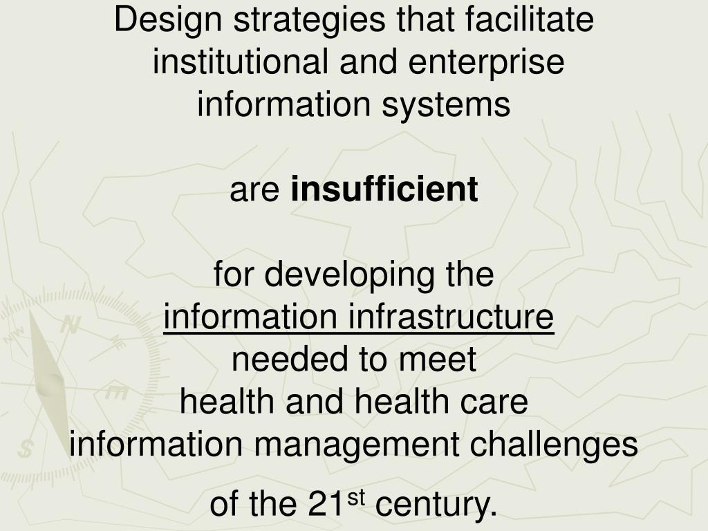 Design strategies that facilitate