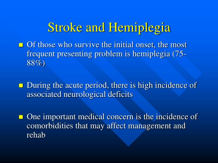Stroke and hemiplegia3